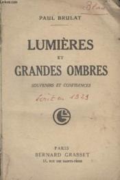 Lumieres Et Grandes Ombres. - Couverture - Format classique