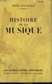 Histoire De La Musique. - Couverture - Format classique