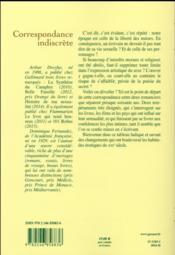Correspondance indiscrète - 4ème de couverture - Format classique