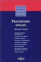 Procedures orales - 1ere ed. - Intérieur - Format classique