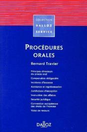 Procedures orales - 1ere ed. - Couverture - Format classique