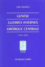 Genese des guerres internes/amer.centrale - Intérieur - Format classique