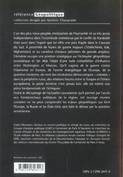 Geopolitique De L'Armenie - 4ème de couverture - Format classique