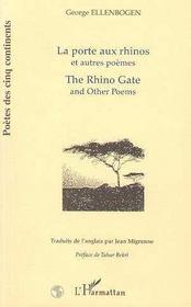 La Porte Aux Rhinos Et Autres Poemes - Intérieur - Format classique