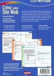 Creez votre site web - 4ème de couverture - Format classique