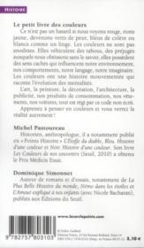 Le petit livre des couleurs - 4ème de couverture - Format classique