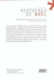 Histoires de noel - 4ème de couverture - Format classique