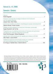 Revue I3 N.6.2 ; Information, Interaction, Intelligence - 4ème de couverture - Format classique