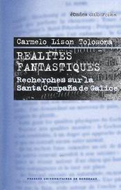Réalités fantastiques ; recherches sur la Santa Compaña da Galice - Couverture - Format classique