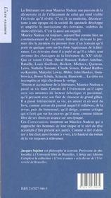Une vie en litterature - 4ème de couverture - Format classique