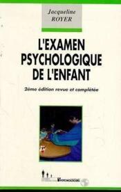 L'examen psychologique de l'enfant - Couverture - Format classique