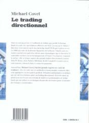 Le trading directionnel - 4ème de couverture - Format classique