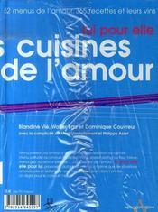 Pack les cuisines de l'amour - 4ème de couverture - Format classique