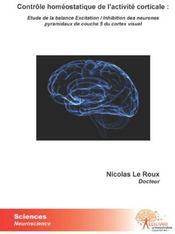 Contrôle homéostatique de l'activité corticale - Couverture - Format classique
