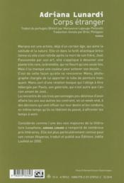 Corps étranger - 4ème de couverture - Format classique