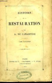 Histoire de la Restauration. TOME III - Couverture - Format classique
