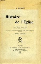 Histoire De L'Eglise, Tome I - Couverture - Format classique