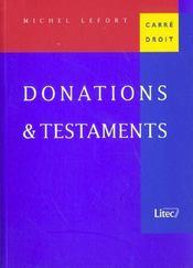 Donations et testaments - Intérieur - Format classique