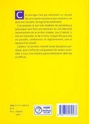Donations et testaments - 4ème de couverture - Format classique