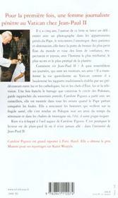 Le pape en privé - 4ème de couverture - Format classique