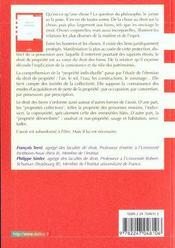 Droit Civil ; Les Biens ; 6e Edition - 4ème de couverture - Format classique