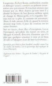 La Proie De La Nuit - 4ème de couverture - Format classique