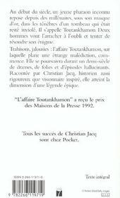 L'affaire Toutankhamon - 4ème de couverture - Format classique