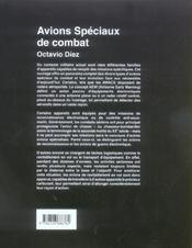 Avions speciaux de combat - 4ème de couverture - Format classique