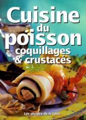 Cuisine Du Poisson Coquillages Et Crustaces - Couverture - Format classique