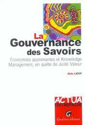 La gouvernance des savoirs - Intérieur - Format classique
