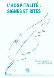 L'Hospitalite ; Signes Et Rites - Intérieur - Format classique