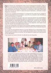 Le Manuel Du Management De Projet De L'Amenagement Urbain Immobilier - 4ème de couverture - Format classique