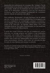 Vocabulaire De L'Ornementation Baroque - 4ème de couverture - Format classique