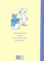 Les idées bleues de jojo - 4ème de couverture - Format classique