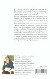 Legende des corses (la) - 4ème de couverture - Format classique