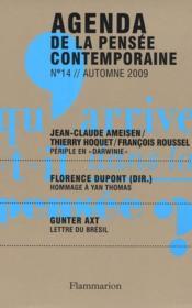 Agenda De La Pensee Contemporaine N.14 - Couverture - Format classique