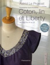 Coton, lin et liberty - Couverture - Format classique