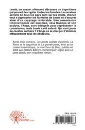 Le code absolu - 4ème de couverture - Format classique