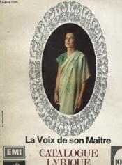 Catalogue Lyrique - La Voix De Son Maitre - Couverture - Format classique