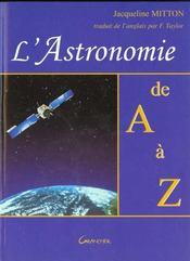 L'astronomie de a a z - Intérieur - Format classique