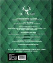 Chasse ; le grand livre Hachette - 4ème de couverture - Format classique