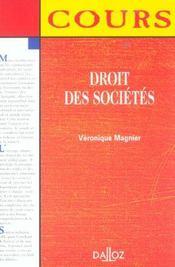 Droit Des Societes ; 1e Edition - Intérieur - Format classique