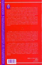 Comportement Du Consommateur - 4ème de couverture - Format classique