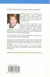 Le Tarot Américain. Guide D'Initiation Et D'Interprétation - 4ème de couverture - Format classique