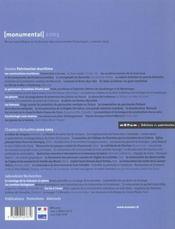 MONUMENTAL ; dossier patrimoine maritime (édition 2003) - 4ème de couverture - Format classique