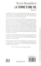 La forme d'une vie ; mémoires, 1924-2010 - 4ème de couverture - Format classique