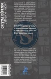 Cristal défense - 4ème de couverture - Format classique