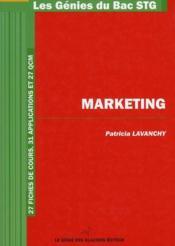 Marketing ; bac STG - Couverture - Format classique