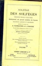 Solfege Des Solfeges Volume 7b - Couverture - Format classique