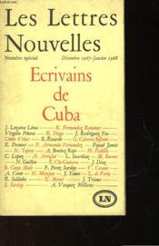 Les Lettres Nouvelles - Ecrivains De Cuba - Couverture - Format classique